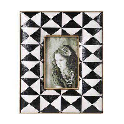Small Geometric Monochrome Photo Frame