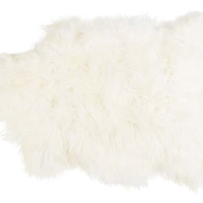 100% White Long-Haired Sheepskin