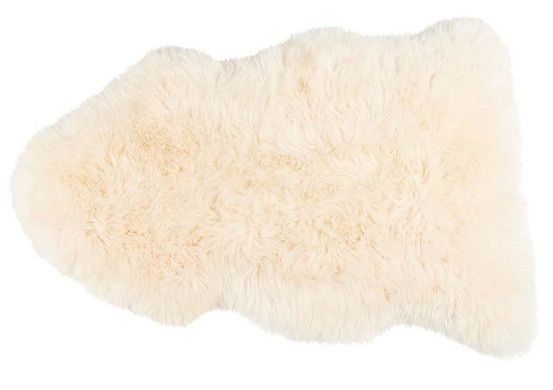 100% Champagne Long-Haired Sheepskin