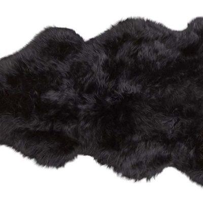 100% Charcoal Long-Haired Sheepskin