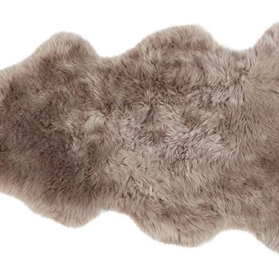 100% Taupe Long-Haired Sheepskin