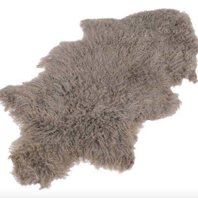 100% Taupe Mongolian Sheepskin