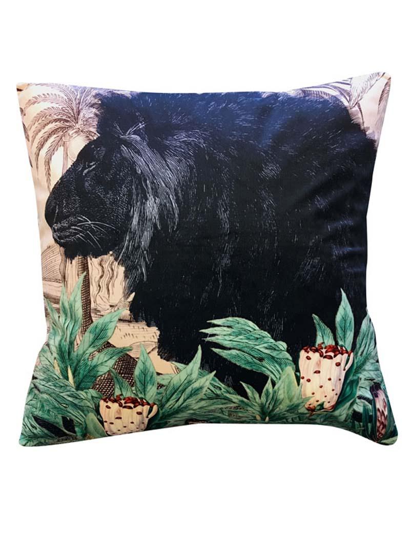 Little Lion Velor Cushion