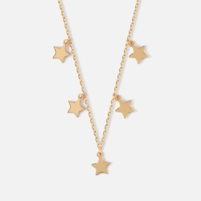 Five Stars Gold Necklace