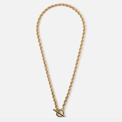 6b) Chunky Rope Chain T Bar Necklace