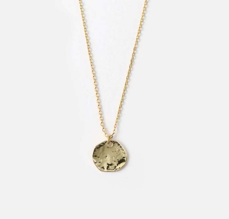 Mini Coin Ditsy Necklace Gold