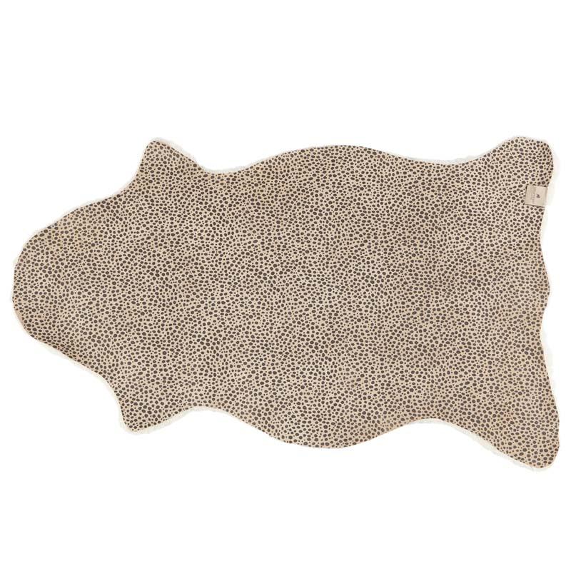 Back Leopard Pattern Sheepskin