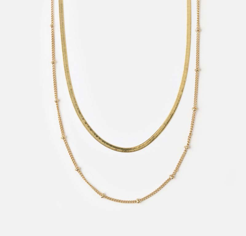 Satellite & Snake Layered Necklace