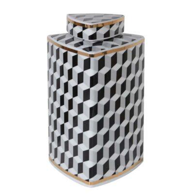 Small Geometric Monochrome Jar