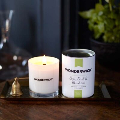 Wonderwick - Lime, Basil & Mandarin Blanc Glass candle