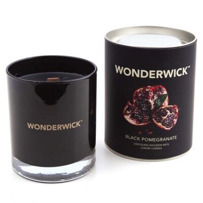 Wonderwick - Black Pomegranate Noir Glass Candle