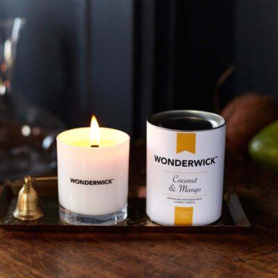 Wonderwick - Coconut & Mango Blanc Glass Candle