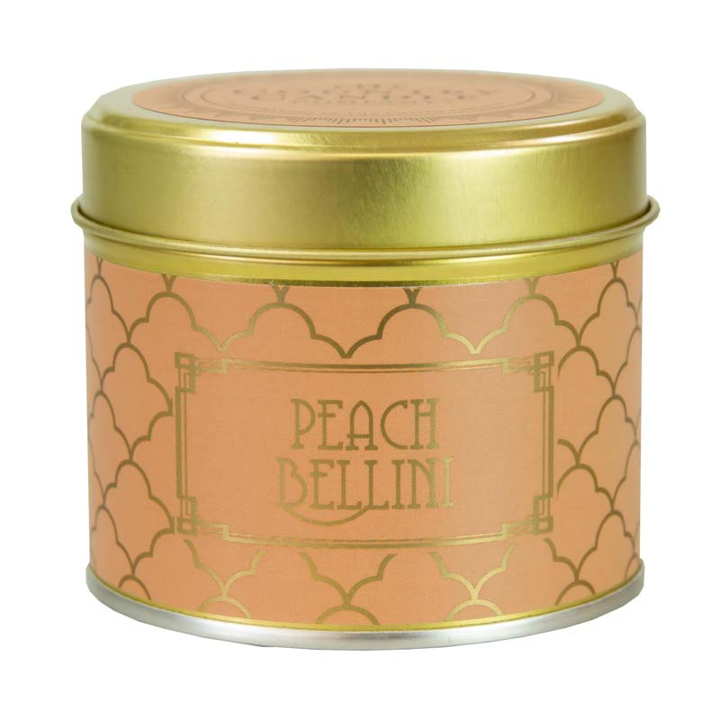 Happy Hour/ Peach Bellini Tin Candle