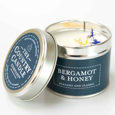 Pastels/ Bergamot & Honey Tin Candle