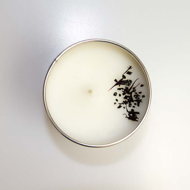 Pastels/ Charred Amber Tin Candle