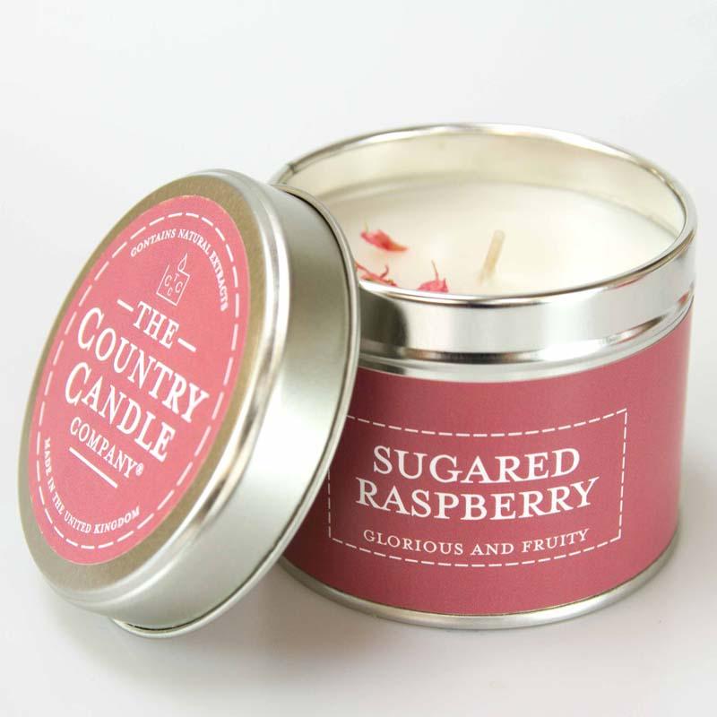 Pastels/ Sugared Rasberry Tin Candle