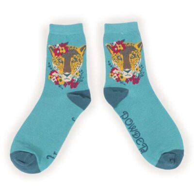 Leopard Floral Socks
