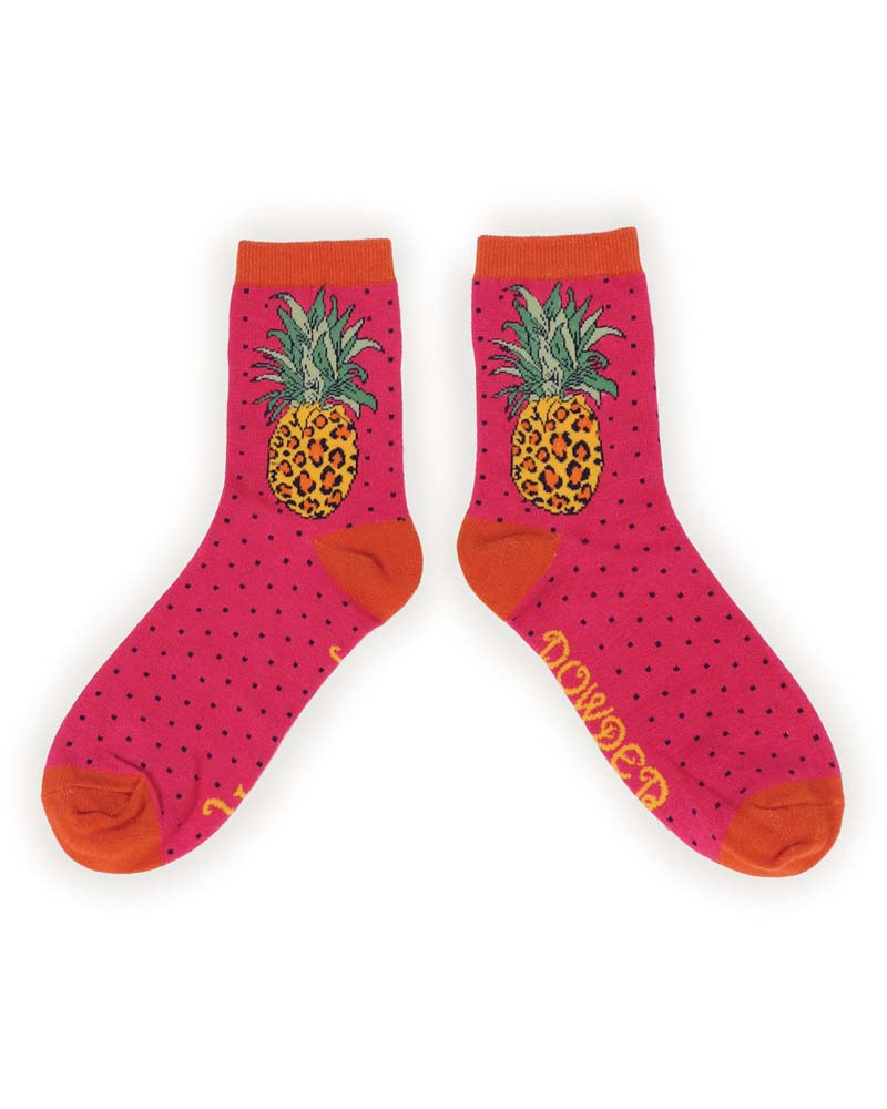 Leopard Pineapple Socks