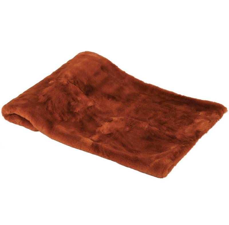 Burnt Orange Faux Fur Throw