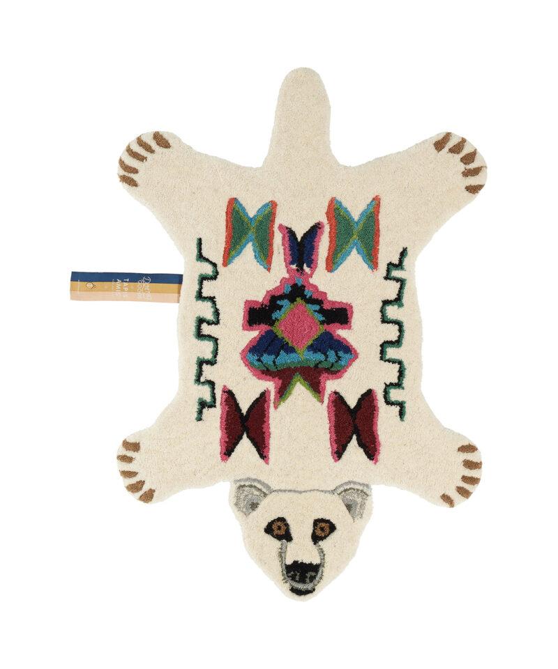 Kasbah Polar Bear Rug Small Front Doing Goods 1.45.10.006.020.3 White Web